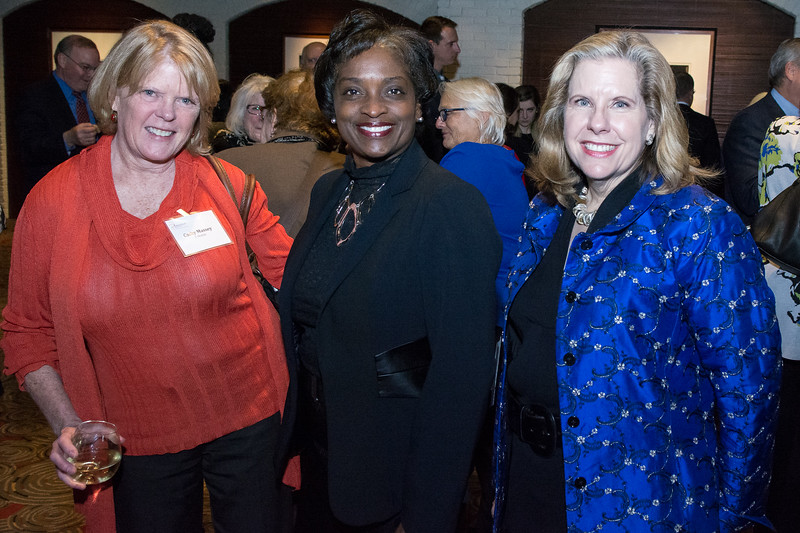 Cathy Massey, T-Mobile, Mignon Clyburn, Commissioner, Federal Communications Commission, and Kathleen Abernathy, Crittenton Leadership Award Honoree and Special Counsel, Wilkinson Barker Knauer LLP.