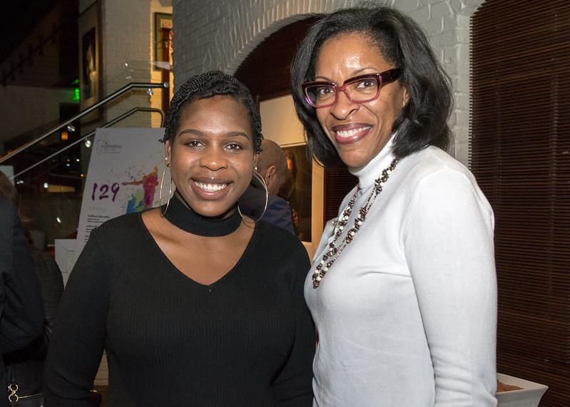Leteria Bailey, Crittenton alumna, with Shebra Evans, School Board Member, Montgomery County Public Schools.