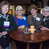 Liz Sachs, Crittenton Sponsor, Partner, Lukas, Nace, Gutierrez & Sachs, with Cindy Breloff, Janice Goldblum, National Academy of Sciences, and Aletha Jaeger.