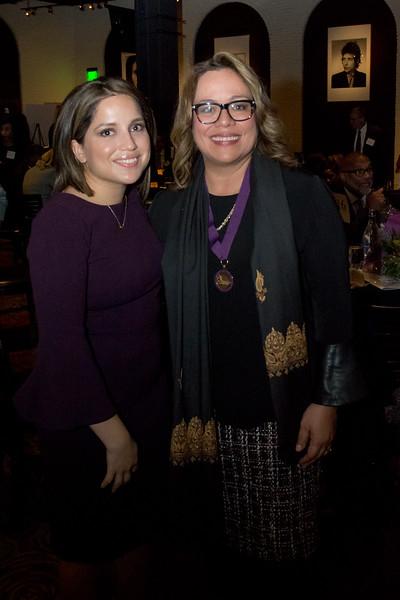 Patricia Burbano, Crittenton alumna, with Nancy Navarro, Crittenton Leadership Award Honoree, Councilmember, Montgomery County Council.