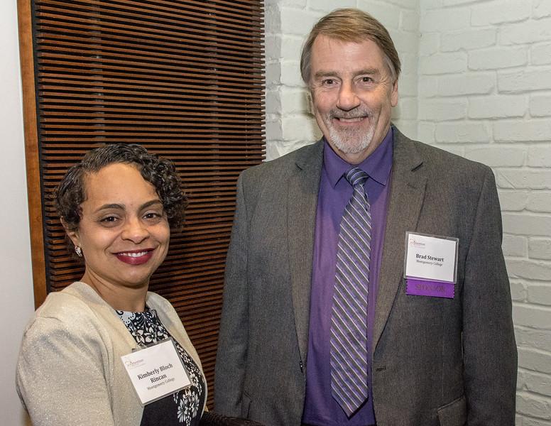Kimberly Bloch Rincan, Montgomery College and Brad Stewart, Crittenton Sponsor, Montgomery College.
