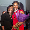 Mykala Thorne, Crittenton participant, with LaTara Harris, Crittenton Leadership Award Honoree, Crittenton Sponsor, Regional Director of External and Legislative Affairs, AT&T.