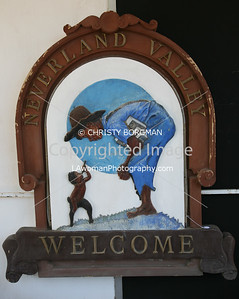 Sign from Michael Jackson's Neverland Ranch.
