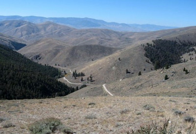 """Leaving """"4th of July Creek"""" the Clark main party probably made it back to to Camp Fortunate the following day. The trail across Gibbons Pass runs in to Bloody Dick Road and Lemhi Pass Road."""