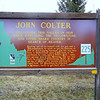 John Colter marker west of Yellowstone.