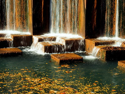 Water Falls in Autumn at the Canal