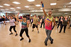 "Billy Blanks Jr. demonstrates the ""Dance it Out""  exercise class with a group of fans at HNH Fitness in Oradell, NJ. HNH Fitness is now a certified  ""Dance it Out"" exercise facility and teaches the class on a regular basis. 6/3/13  Photo by Jeff Rhode/Holy Name Medical Center"