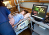 """The new Institute of Simulation Learning at Holy Name Medical Center performed a """"Sim"""" training exercise the the labor and delivery department at Holy Name Medical Center in Teaneck, NJ. Only weeks following the exercise the same team was presented with a similar """"real life"""" delivery complication and all agreed that the training helped them act quickly and with more confidence because of the Sim training.  5/2/13  Photo by Jeff Rhode/Holy Name Medical Center"""