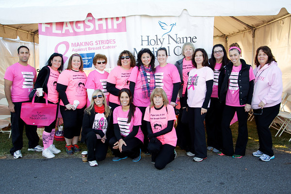Holy Name Medical Center was a sponsor for the American Cancer Society's Strides Against Cancer Walk located at Overpeck Park, in Ridgefield Park, New Jersey on October 20, 2013.  Photo by Victoria Matthews / Holy Name Medical Center.