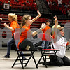 Huntley Middle School supporters cheer Saturday, March 10 during Kaden Klapprodt's IESA championship match.<br /> <br /> Sarah Minor - For Shaw Media