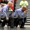 Assistant coach Dan Weller (right) yells during Kaden Klapprodt's IESA championship match Saturday, March 10 as Pat Kiley looks on.<br /> <br /> Sarah Minor - For Shaw Media