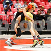 Kaden Klapprodt of Huntley Middle School works to get a takedown Saturday, March 10 in his IESA championship match against Collin Altensey of Port Byron Riverdale.<br /> <br /> Sarah Minor - For Shaw Media