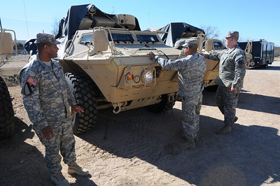 "In this image released by the Texas Military Forces, Soldiers from 236th Military Police Company perform basic soldier tasks during annual training at Fort Wolters, Texas, Friday, Jan. 28, 2011. The unit, headquartered in San Antonio, is in the Dallas/Fort Worth with Joint Task Force 71 in support of the Super Bowl mission. Annual training enables National Guard units like the 236th to maintain their soldiering skills, facilitating them to be ""Always Ready-Always There"". (Photo/Joint Task Force 71, Army National Guard Sgt. Melissa Shaw)"