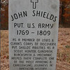 The current John Shields grave marker has been replaced in the past few years. Shields was 34 yrs of age when he was recruited by Clark to join the Expedition.  He died only 3 years after the return of the Expedition.