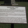 Meriwether Lewis grave marker and history sign.