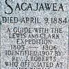 Wrong Sacajawea grave marker