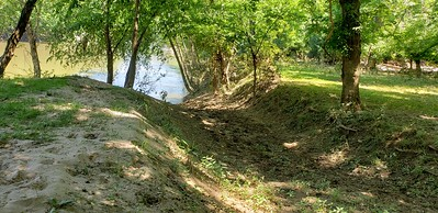 Graded ramp to river