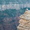 Man at North Rim of Grand Canyon, Arizona