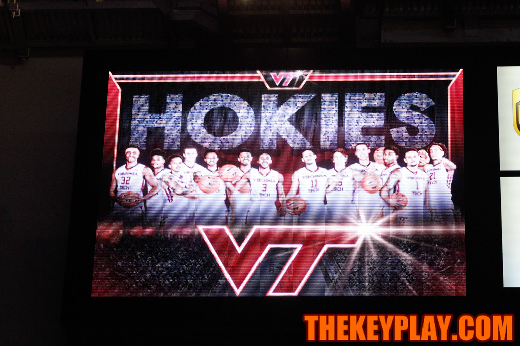 Joey Van Zegeren is missing from the team photo after the Hokies announced he would no longer play for the team an hour before tipoff. (Mark Umansky/TheKeyPlay.com)