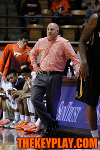 Virginia Tech head coach Buzz Williams looks on during a break in play. (Mark Umansky/TheKeyPlay.com)