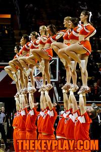 The Virginia Tech Cheerleaders. (Mark Umansky/TheKeyPlay.com)