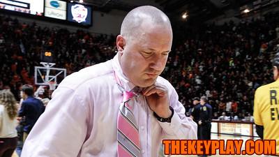 Buzz Williams walks off the court after the Hokies fall three points short. (Mark Umansky/TheKeyPlay.com)