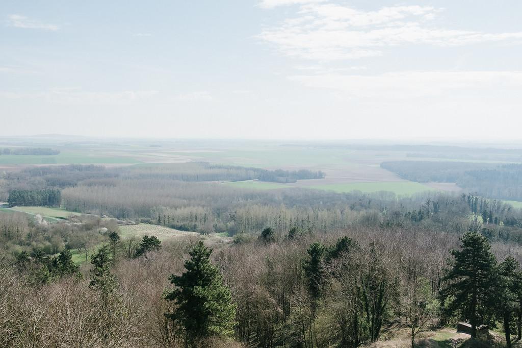 Sur le chemin des dames, village de Craonne rasé pedant le conflit 14-18, Aisne.