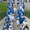 The 149th graduation exercise for Leominster High School was held on Saturday, June 1, 2019 at Doyle Field. Leominster Graduates line up to start the ceremony. SENTINEL & ENTERPRISE/JOHN LOVE