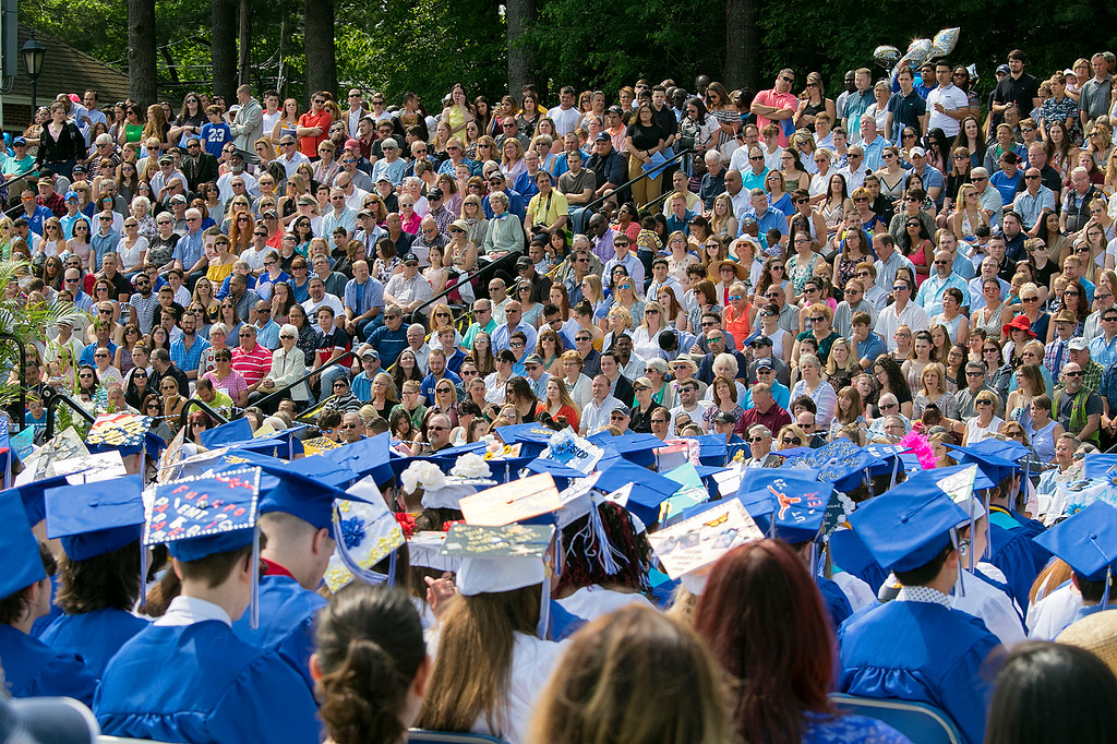. The 149th graduation exercise for Leominster High School was held on Saturday, June 1, 2019 at Doyle Field. The stands were filled at the ceremony. SENTINEL & ENTERPRISE/JOHN LOVE
