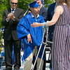The 149th graduation exercise for Leominster High School was held on Saturday, June 1, 2019 at Doyle Field. Graduate Andres Buenahora had asked to walk across the stage by himself with out crutches or help from anyone. As he did it he got a standing ovation from his classmates. He had not told his parents , this was a surprise. SENTINEL & ENTERPRISE/JOHN LOVE