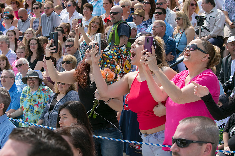 The 149th graduation exercise for Leominster High School was held on Saturday, June 1, 2019 at Doyle Field. Loved one cheer loudly for their graduate. SENTINEL & ENTERPRISE/JOHN LOVE