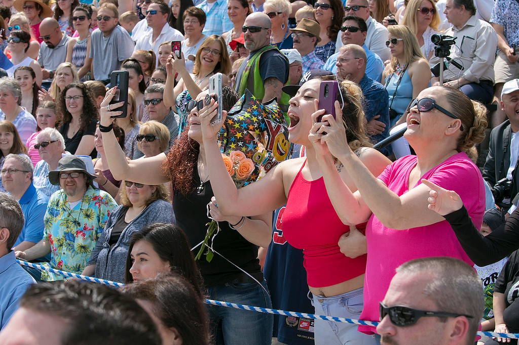 . The 149th graduation exercise for Leominster High School was held on Saturday, June 1, 2019 at Doyle Field. Loved one cheer loudly for their graduate. SENTINEL & ENTERPRISE/JOHN LOVE