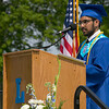 The 149th graduation exercise for Leominster High School was held on Saturday, June 1, 2019 at Doyle Field. Class Salutatorian Smit Ganpat Patel addresses the graduates and their loved ones during the ceremony. SENTINEL & ENTERPRISE/JOHN LOVE