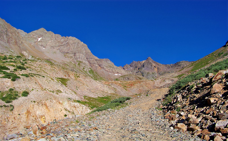 Rugged ridge crest above the Castle Peak trail, Colorado Elk Range