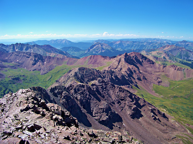 The Maroon Peak south ridge crest, Colorado Elk Range