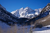 The Maroon Bells in the winter sunlight #2, Colorado Elk Range