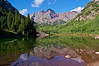 The Maroon Bells summer reflection; Colorado Elk Range