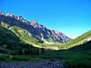 Crater Lake lies in the shadows of the Maroon Bells, Colorado Elk Range