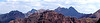 Panoramic view of the Maroon Bells from Snowmass Mountain to the west; Colorado Elk Range