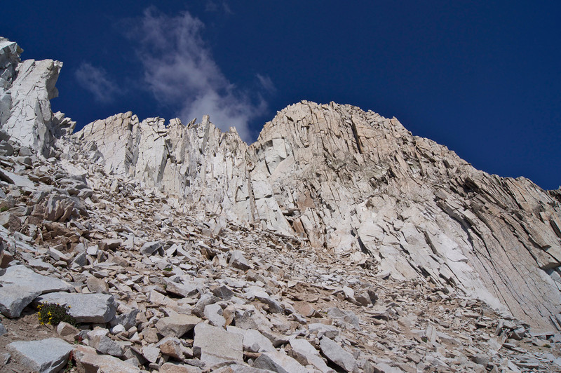 At 13,600 ft, approaching the difficult notch to Snowmass Mountain's south ridge; Colorado Elk Range