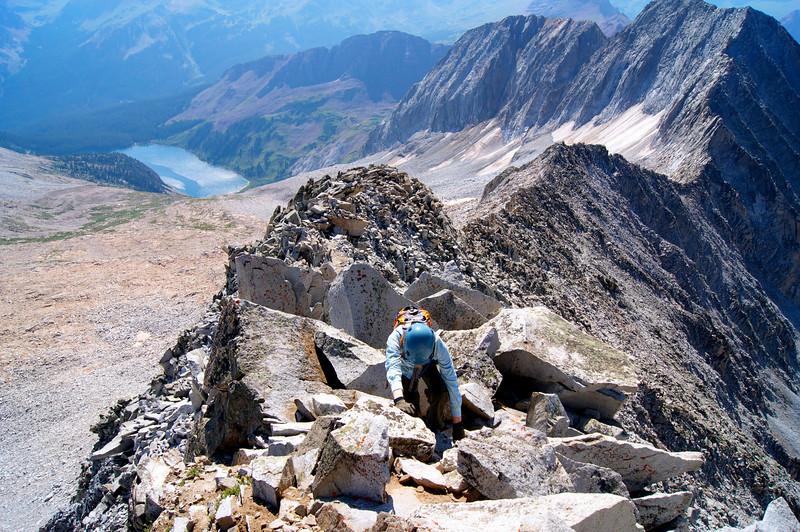 Reaching the summit of Snowmass Mountain (14,092 ft.); Colorado Elk Range