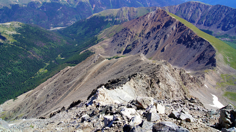 """The northeast """"Kelso Ridge"""" gives climbers a more challenging route to the summit Torreys Peak, Colorado Front Range."""
