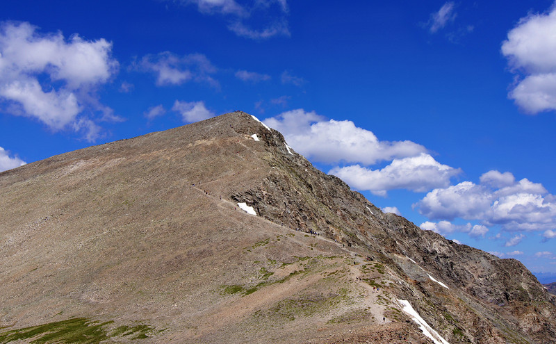 Torreys' popular south ridge as seen from the Grays peak trail, Colorado Front Range.