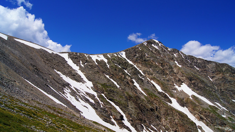 The vast, rocky expanse of Torreys Peak's east face, Colorado Front Range.