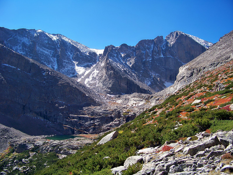Fall colors in the Longs Peak east basin, Rocky Mountain National Park