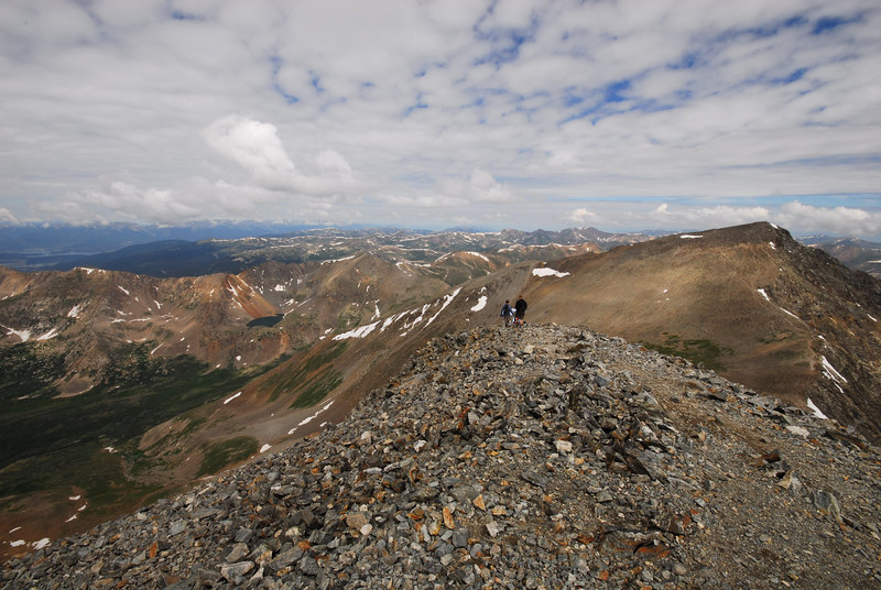 Looking NE along the Continental Divide.<br /> <br /> The Divide runs through Torrey's and Grays Peak. Grays Peak is the highest Peak on the Continental Divide.