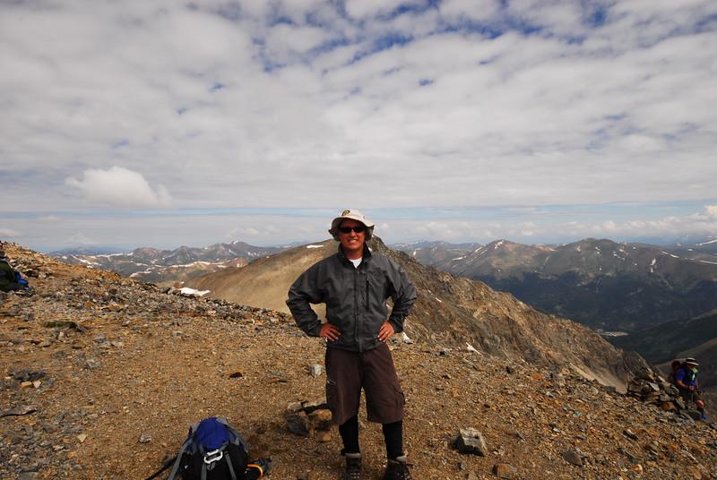 Atop Grays Peak elev. 14,270ft. July 21st, 2007.<br /> <br /> Arrival time: 10:30am.<br /> Elevation gain: