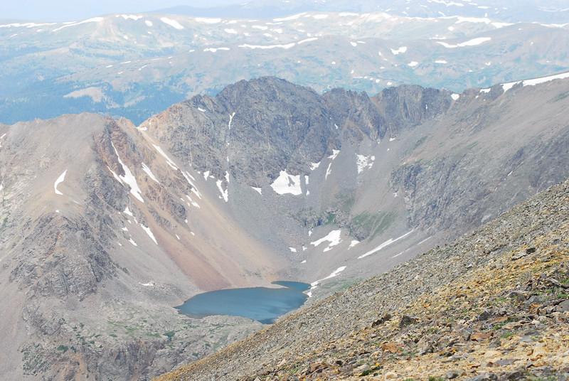 Alpine lake below Grizzly Peak / atop Chihuahua Gulch.