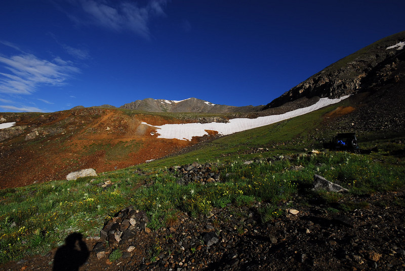 Looking West at Grays peak from Trailhead.