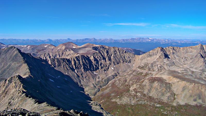 The northwest ridge and Platte Gulch from the Mt. Democrat summit, Colorado Mosquito Range